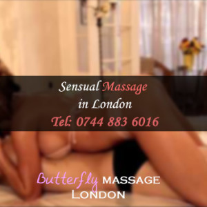 sensual massage concept by butterfly